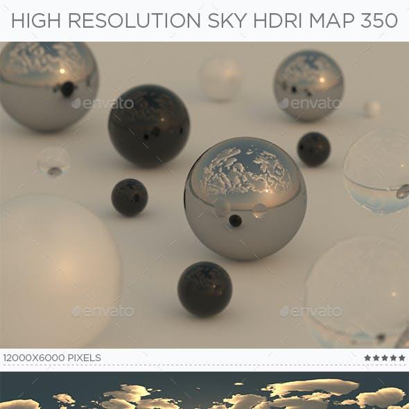 High Resolution Sky HDRi Map 350