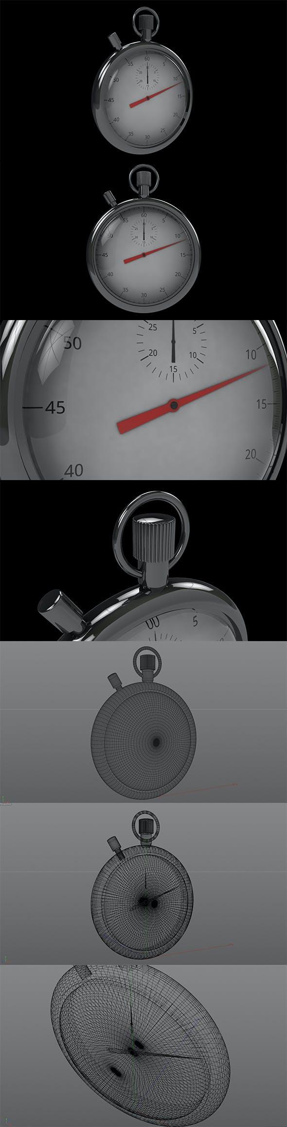 3D Stopwatch C4D - 3DOcean Item for Sale