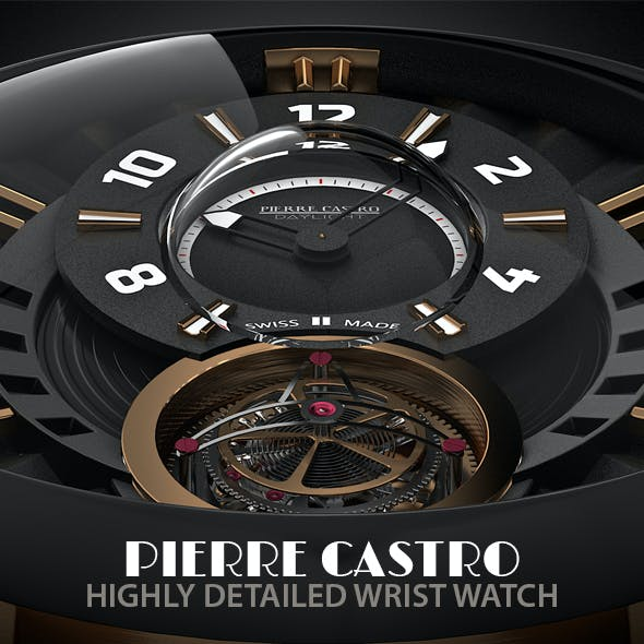 Pierre Castro Highly Detailed Wrist Watch