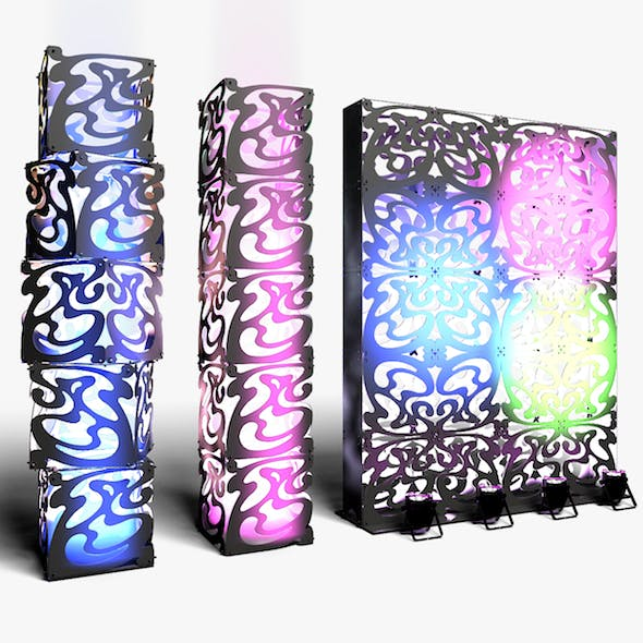 Stage Decor 09 Modular Wall Column - 3DOcean Item for Sale