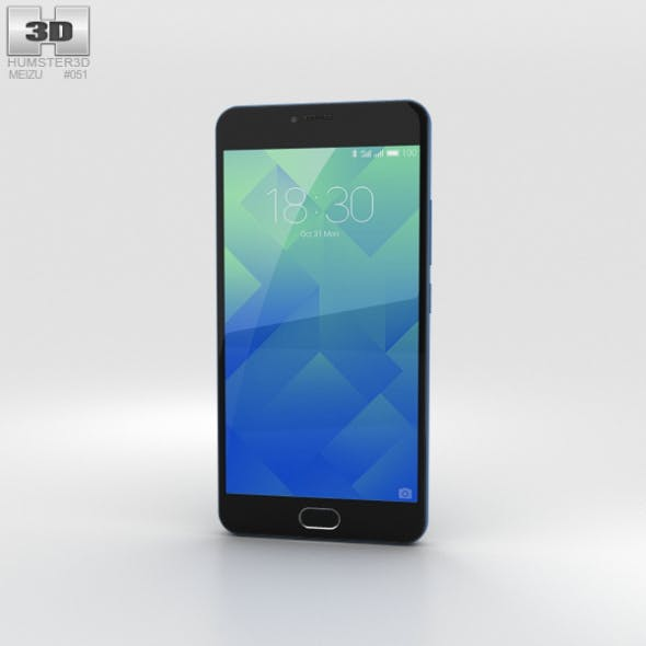 Meizu M5 Sapphire Blue - 3DOcean Item for Sale