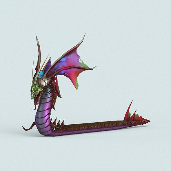 Cartoon Monster Dragon - 3DOcean Item for Sale