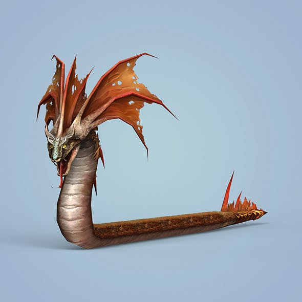 Fantasy Monster Snake - 3DOcean Item for Sale