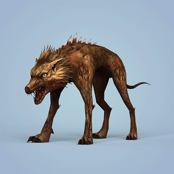 Fantasy Monster Dog - 3DOcean Item for Sale
