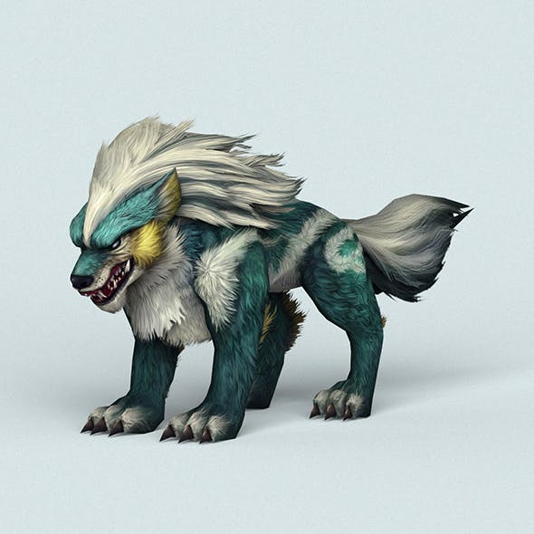Fantasy Monster Warrior Wolf