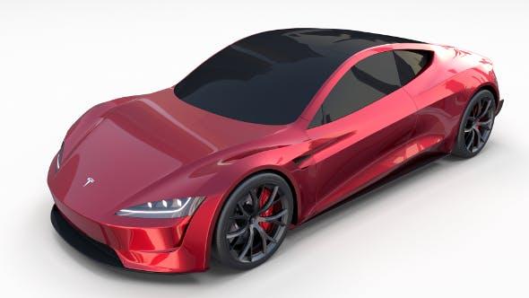 Tesla Roadster 2020 - 3DOcean Item for Sale