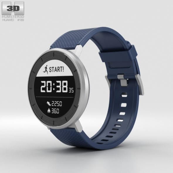 Huawei Fit Silver with Blue Band - 3DOcean Item for Sale