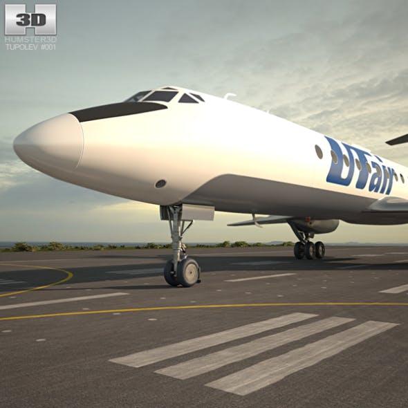 Tupolev Tu-134 - 3DOcean Item for Sale