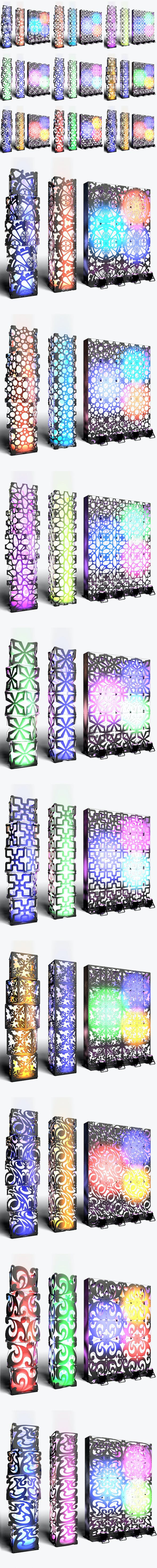 Stage Decor Collection 01 (Modular Wall Column 9 Pieces) - 3DOcean Item for Sale