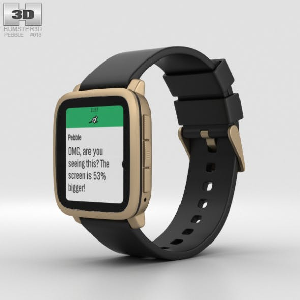 Pebble Time 2 Gold - 3DOcean Item for Sale