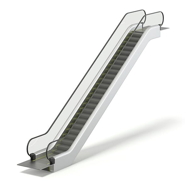 Escalator 3D Model - 3DOcean Item for Sale