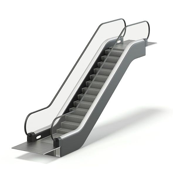 Short Escalator 3D Model - 3DOcean Item for Sale