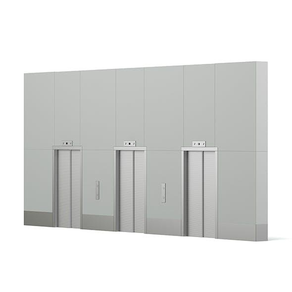 Elevator Doors 3D Model - 3DOcean Item for Sale