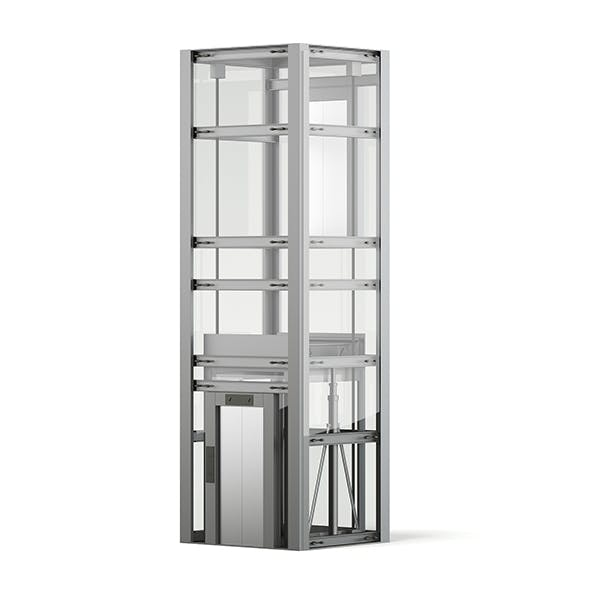 Glass Elevator 3D Model - 3DOcean Item for Sale