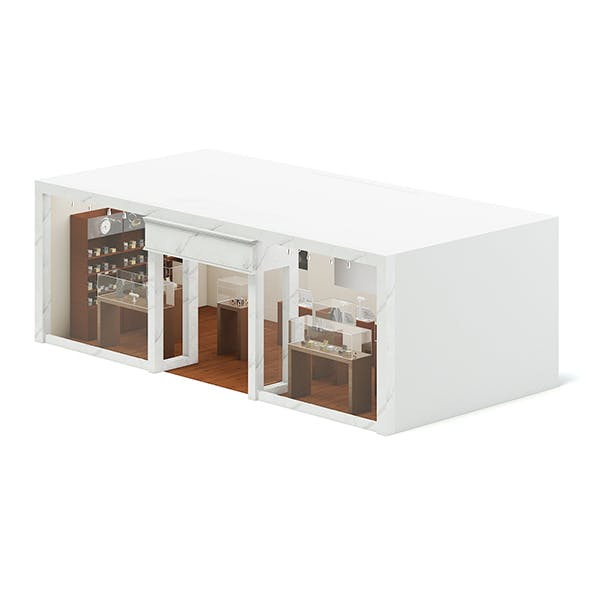 Jewlery Store 3D Model - 3DOcean Item for Sale