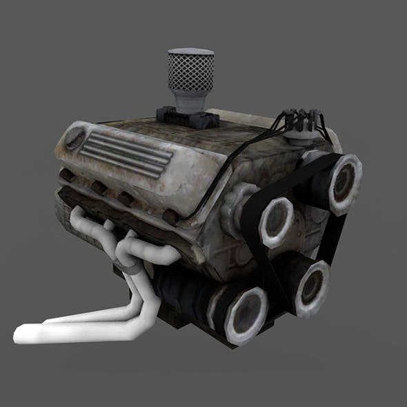 """Engine """" Low Poly """" Full details"""