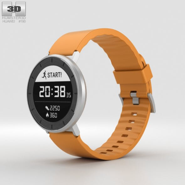 Huawei Fit Silver with Orange Band - 3DOcean Item for Sale