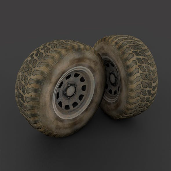 """Wheel """" Low Poly """" - 3DOcean Item for Sale"""
