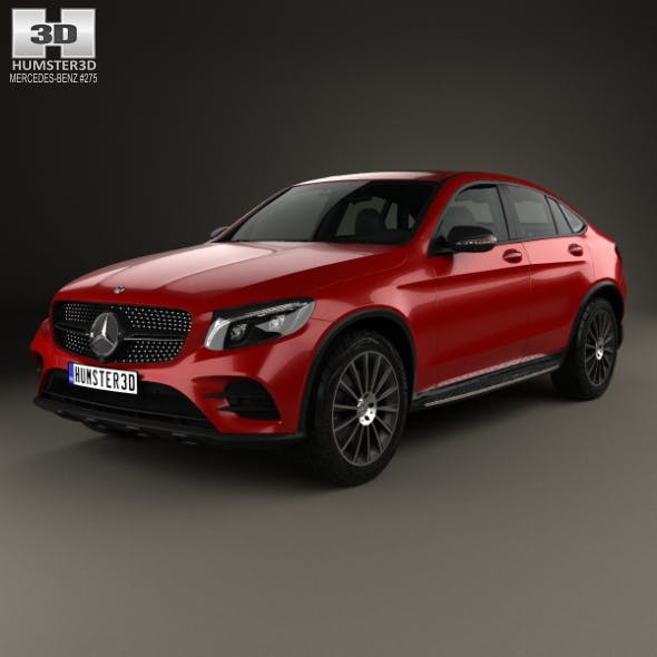 Mercedes-Benz GLC-Class (C253) Coupe AMG Line 2016 - 3DOcean Item for Sale