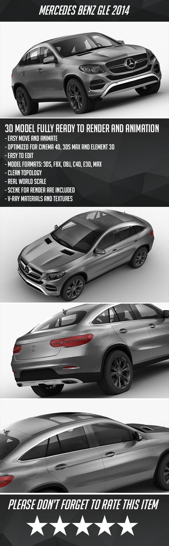 Mercedes Benz GLE 2014 - 3DOcean Item for Sale