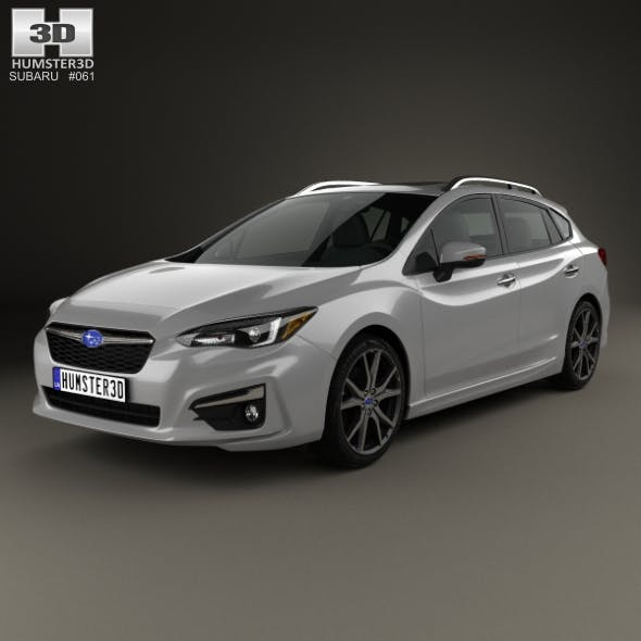 Subaru Impreza 5-door hatchback 2016 - 3DOcean Item for Sale