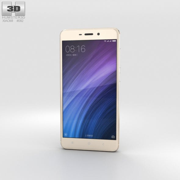 Xiaomi Redmi 4 Gold - 3DOcean Item for Sale