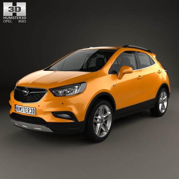 Opel Mokka X with HQ interior 2017 - 3DOcean Item for Sale