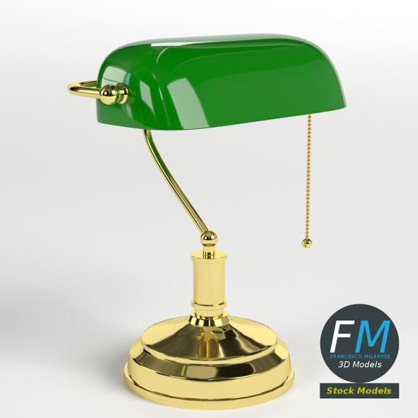 Banker's Lamp - 3DOcean Item for Sale