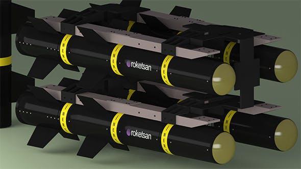 Missile - guided- Roketsan 3D model - 3DOcean Item for Sale