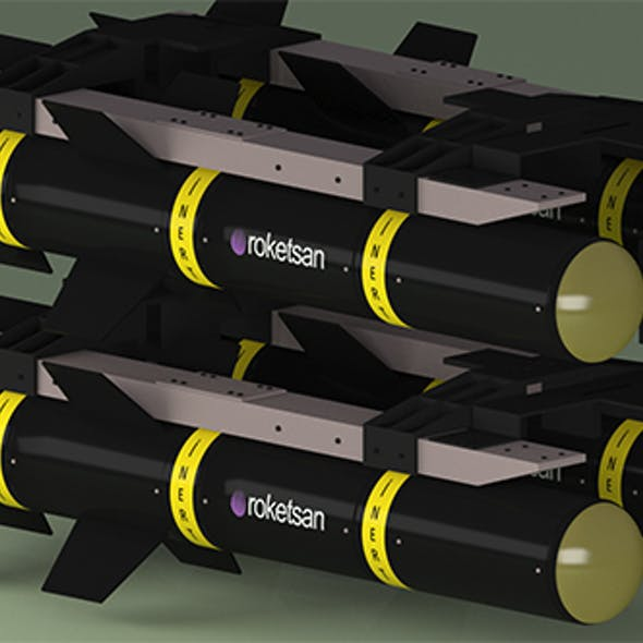 Missile - guided- Roketsan 3D model