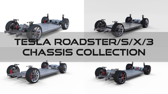 Tesla Roadster Model S X 3 Chassis Pack - 3DOcean Item for Sale