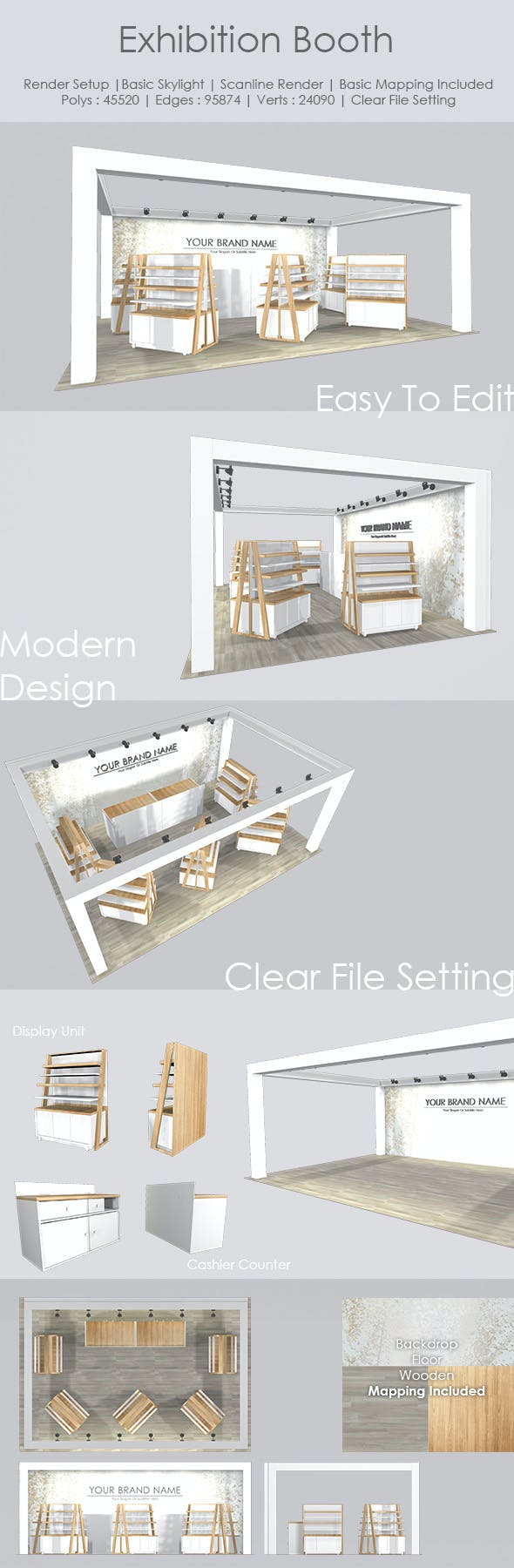 Exhibition Booth - 3DOcean Item for Sale