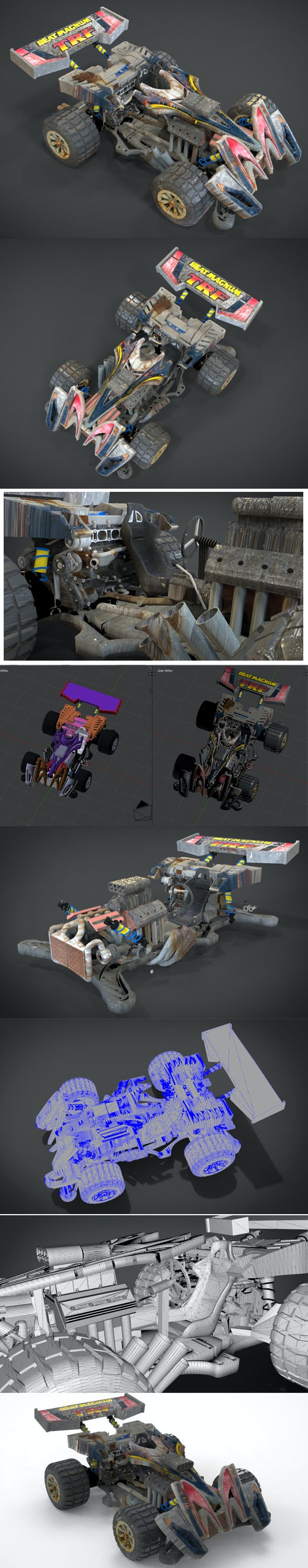 Beat Magnum TRF with interior and detail machine Hot Rod Mode - 3DOcean Item for Sale