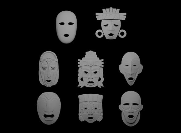 ancient masks collection - 3DOcean Item for Sale