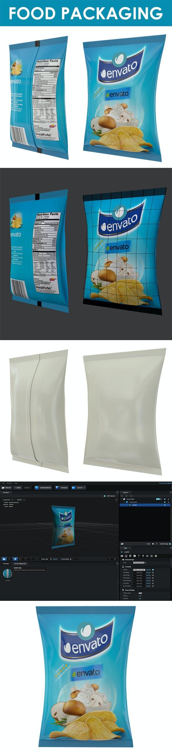 Food packaging - 3DOcean Item for Sale
