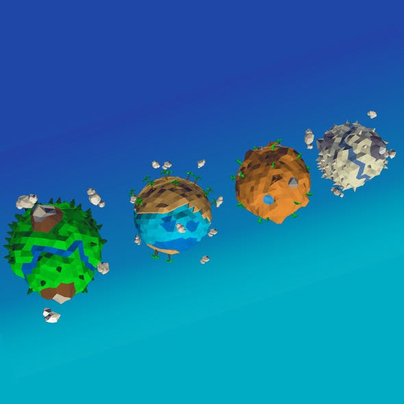 Lowpoly planet pack