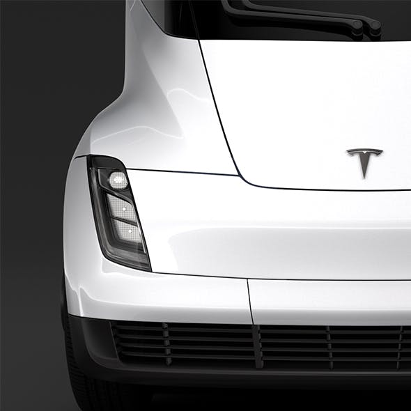 Tesla Semi 4axis 2018 - 3DOcean Item for Sale