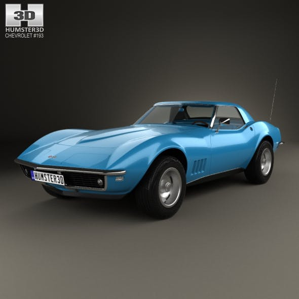Chevrolet Corvette (С3) Convertible with HQ interior 1968