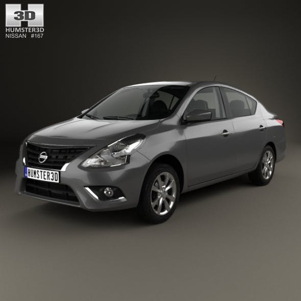 Nissan Versa Sense with HQ interior 2015 - 3DOcean Item for Sale