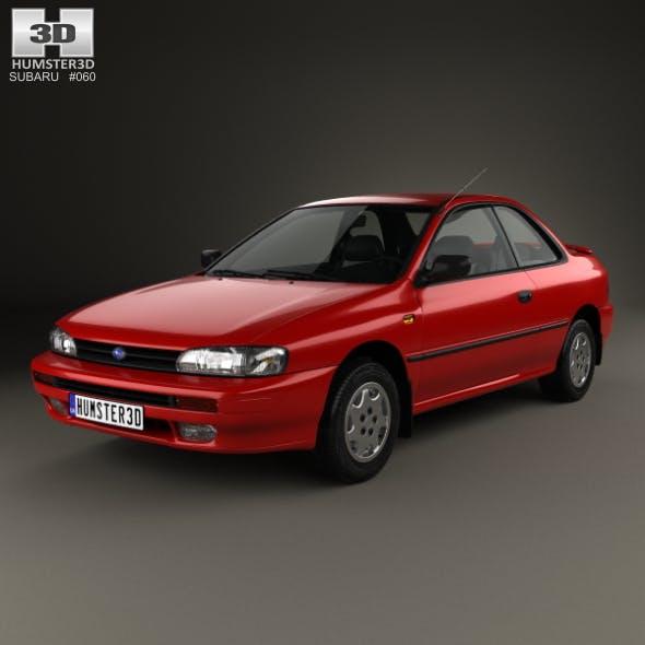 Subaru Impreza Coupe with HQ interior 1995 - 3DOcean Item for Sale