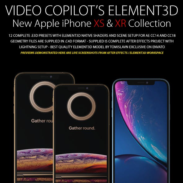 Element3D - iPhone XS & XR Collection