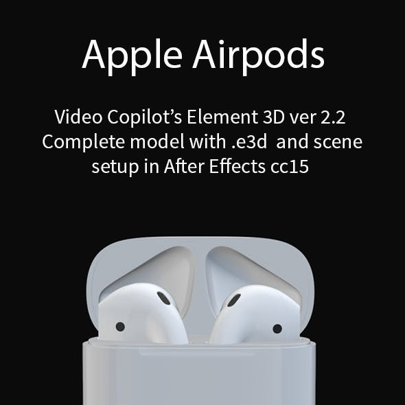 Apple AirPods with Case Element 3D