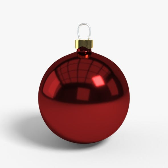 Christmas Ball Model Low Poly - 3DOcean Item for Sale