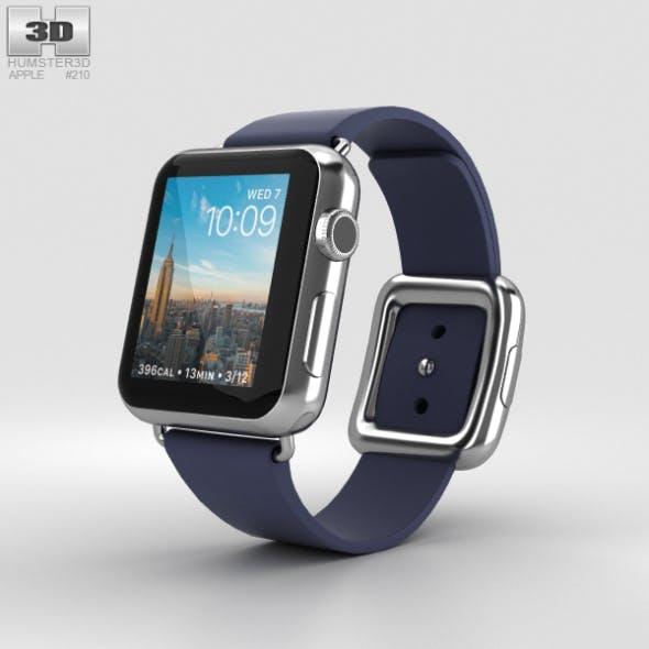 Apple Watch Series 2 38mm Stainless Steel Case Midnight Blue Modern Buckle - 3DOcean Item for Sale