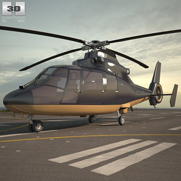 Eurocopter AS365 Dauphin - 3DOcean Item for Sale