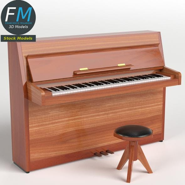 Open vertical piano