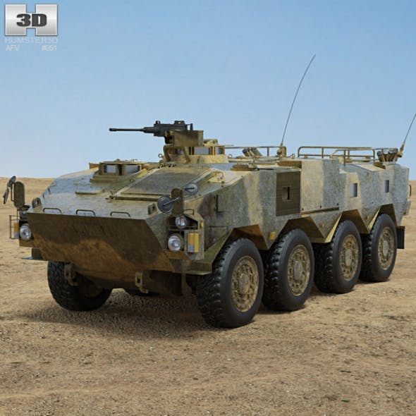 Type 96 Wheeled Armored Personnel Carrier - 3DOcean Item for Sale