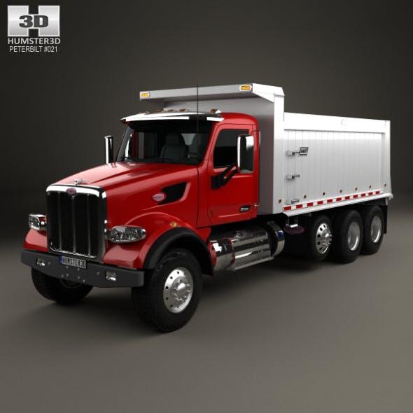 Peterbilt 567 SFFA Tipper Truck 4-axle 2015 - 3DOcean Item for Sale