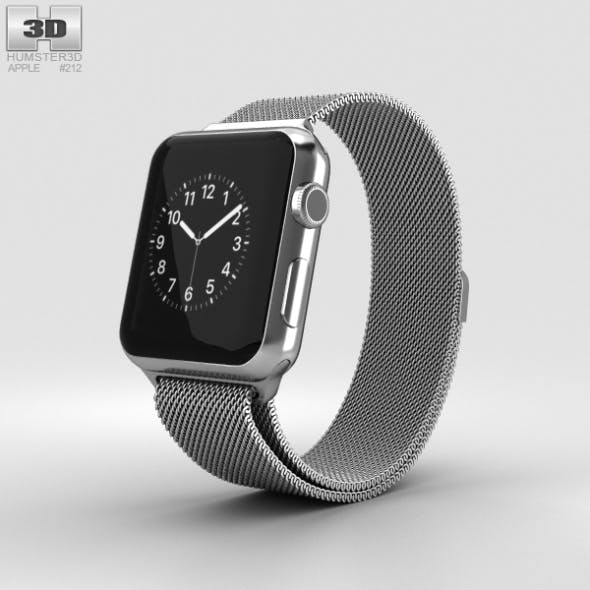 Apple Watch Series 2 38mm Stainless Steel Case Milanese Loop
