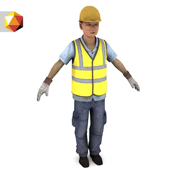 Asian worker - 3DOcean Item for Sale